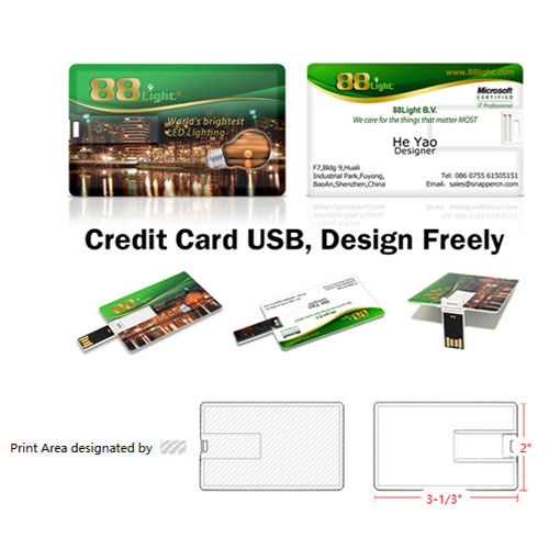 Custom Credit Card USB flash drive 2.0